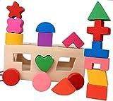Anniversarich 知育玩具 立体パズル 積み木 ブロック 木製 (直方体)