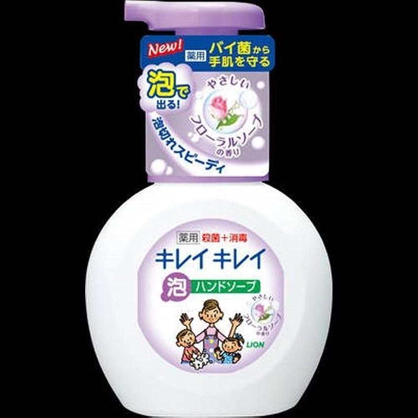 測定可能きらめく爆発キレイキレイ 薬用泡ハンドソープ フローラルソープの香り ポンプ 250mL ×2セット