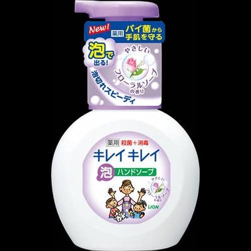 略奪責任フォローキレイキレイ 薬用泡ハンドソープ フローラルソープの香り ポンプ 250mL ×2セット