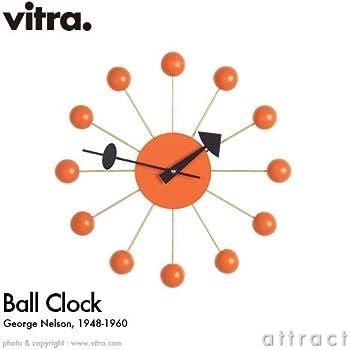 【正規取扱店】 vitra(ヴィトラ) Ball Clock(ボールクロック) Wall Clock ウォールクロック 掛け時計 デザイン:George Nelson(ジョージ・ネルソン) カラー:全5色 スイス デザイナー ビトラ パントン イームズ イサム ノグチ (オレンジ)