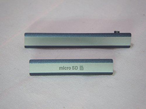互換品 ソニー スマホ Xperia Z2 用 サイド キャップ カバー 2点セットZ2 (2.ブラック)