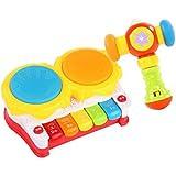 子供のための音楽の電気ベビー玩具ハンドドラムタッピングインストゥルメントパーカッション、ストーリードラム@ミュージックハンマー