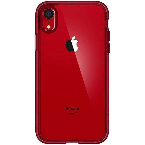 【Spigen】 スマホケース iPhone XR ケース 6.1インチ 対応 [ニューカラー] 背面 クリア 米軍MIL規格取得 ...