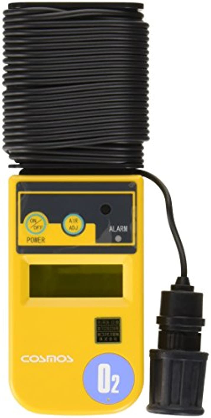 伝統発音するスラム新コスモス電機 酸素濃度計 10m(本体巻取式) /1-8752-04