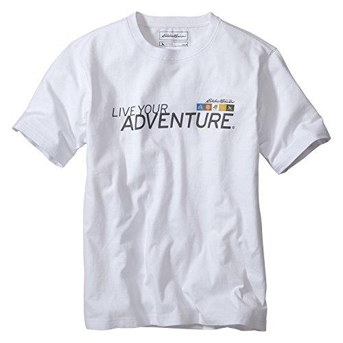 (エディー・バウアー) Eddie Bauer 半袖リブユアアドベンチャーTシャツ(ネイビー S)