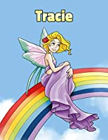 Tracie: Personalized Composition Notebook – Wide Ruled (Lined) Journal. Rainbow Fairy Cartoon Cover. For Grade Students, Elementary, Primary, Middle School, Writing and Journaling