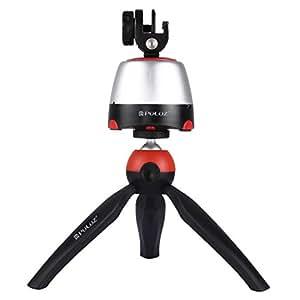 三脚 スマホ 自撮り、PULUZ ミニ 軽量 コンパクト、360° 回転 bluetooth 接続 赤外線リモコン 、携帯電話 カメラ モーションカメラ 用 (三脚キット レッド)