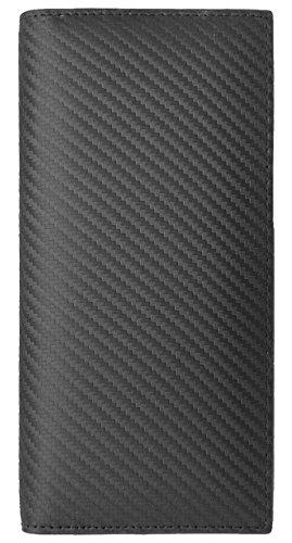 825fd9b145cf イタリアンレザー:ブラック F イタリア産 スペイン産 カーボン レザー 長財布 メンズ 財布 本