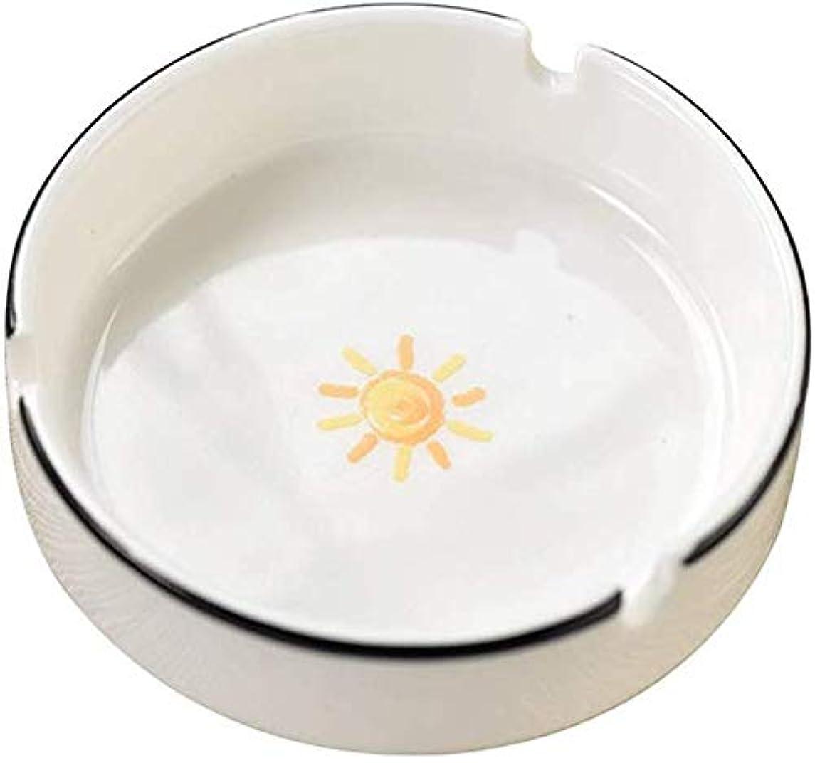悩むホステス持続する灰皿クリエイティブ漫画の多機能小型セラミックカバー灰皿なし