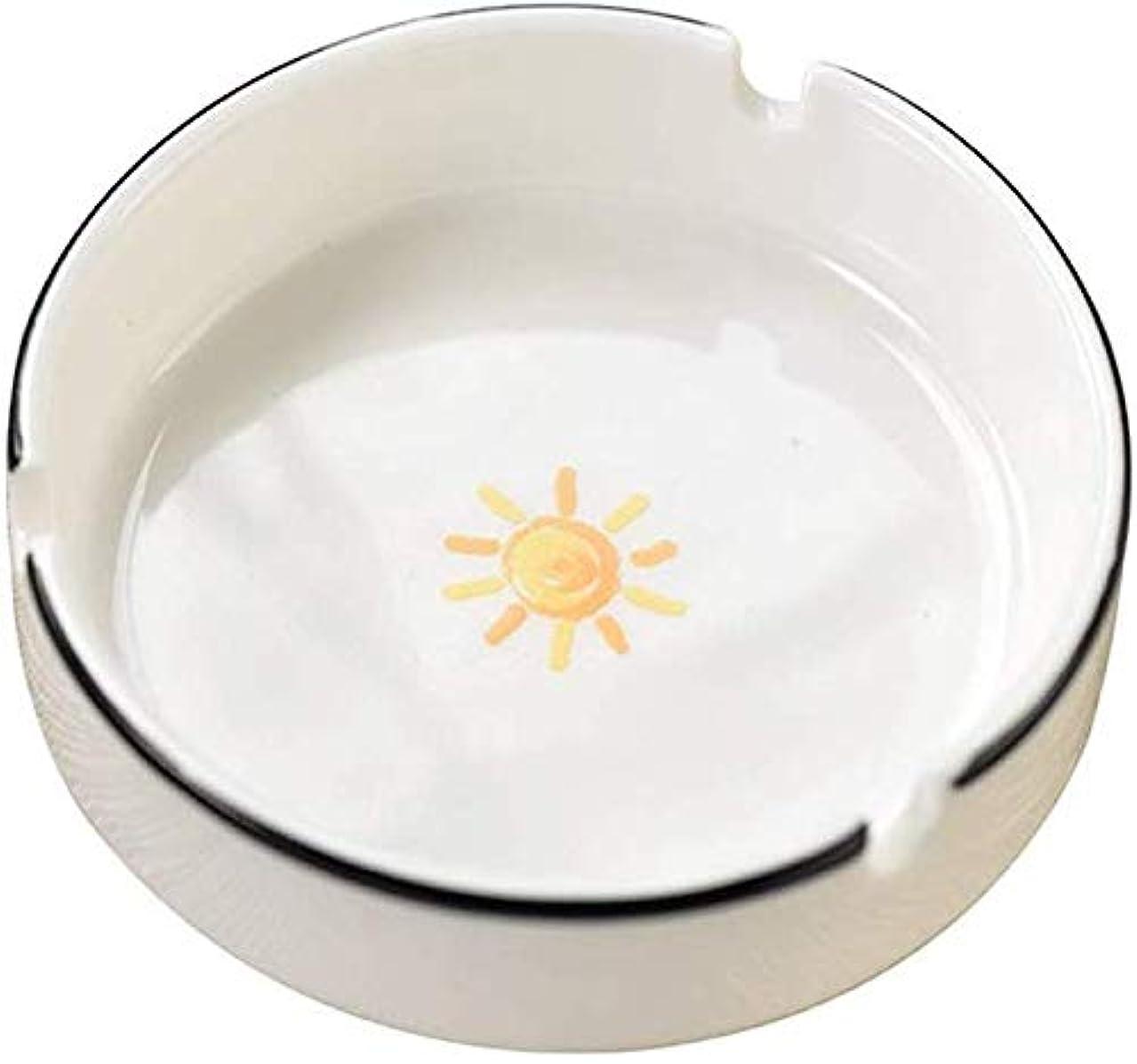 分析する効果的に気配りのある灰皿クリエイティブ漫画の多機能小型セラミックカバー灰皿なし