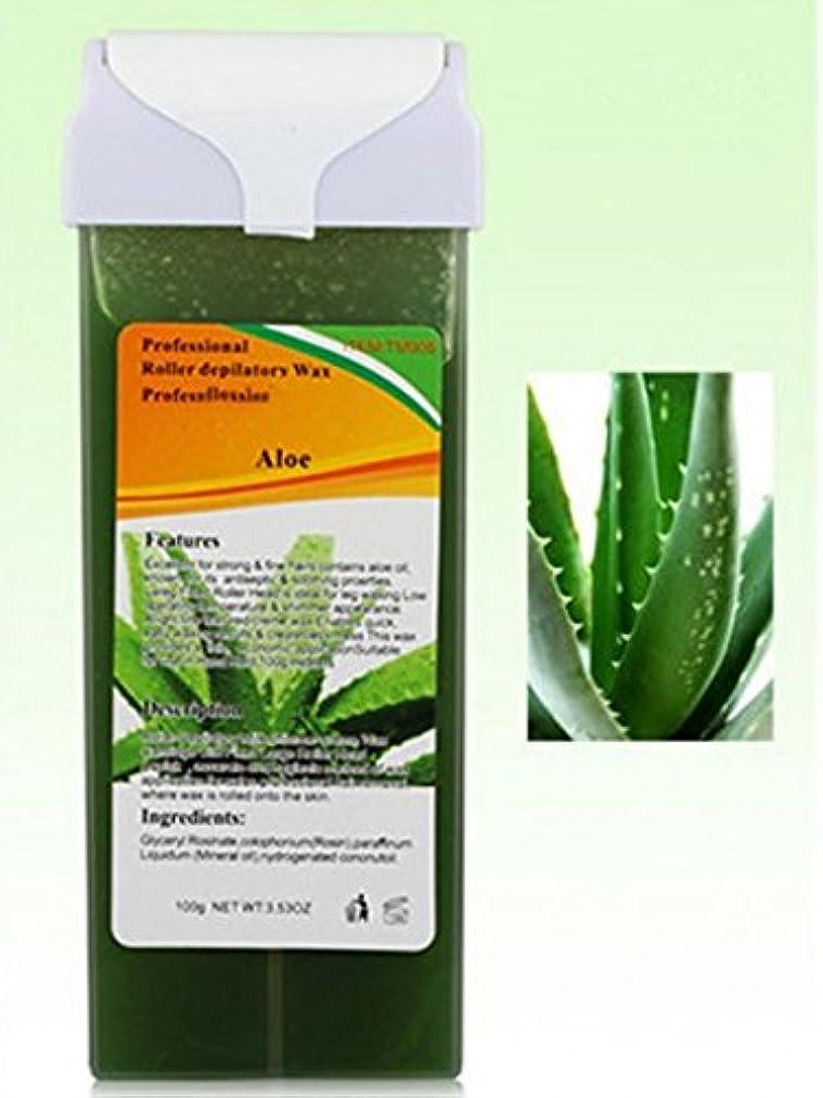 共同選択コイルゴミRabugoo セクシー 脱毛プロフェッショナル使用水溶性脱毛砂糖ワックスカートリッジワックスグッドスメル - 100g / 3.53oz 100g Aloe Vera