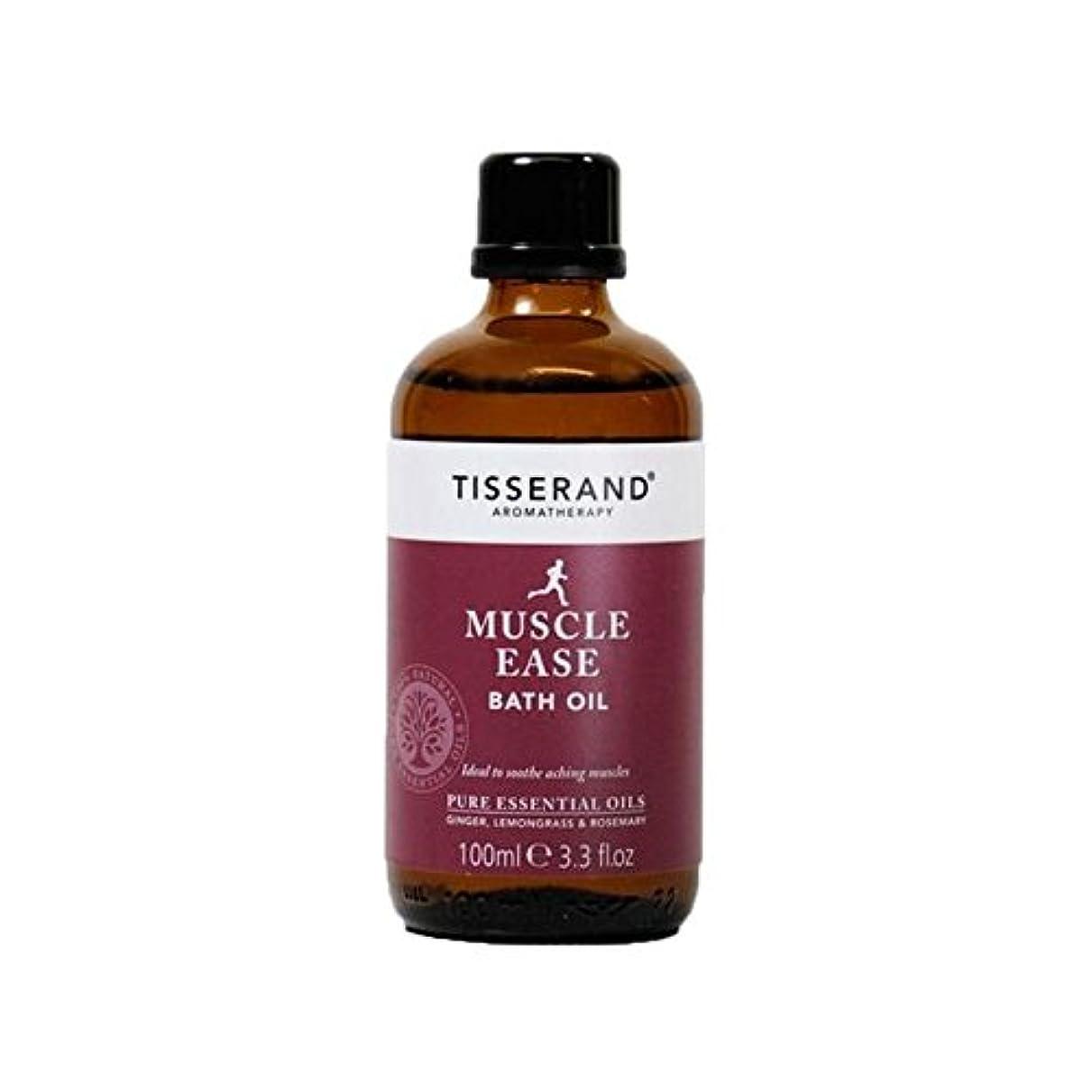 慣性羊の誤解を招くTisserand Muscle Ease Bath Oil 100ml - ティスランド筋肉やすバスオイル100ミリリットル [並行輸入品]