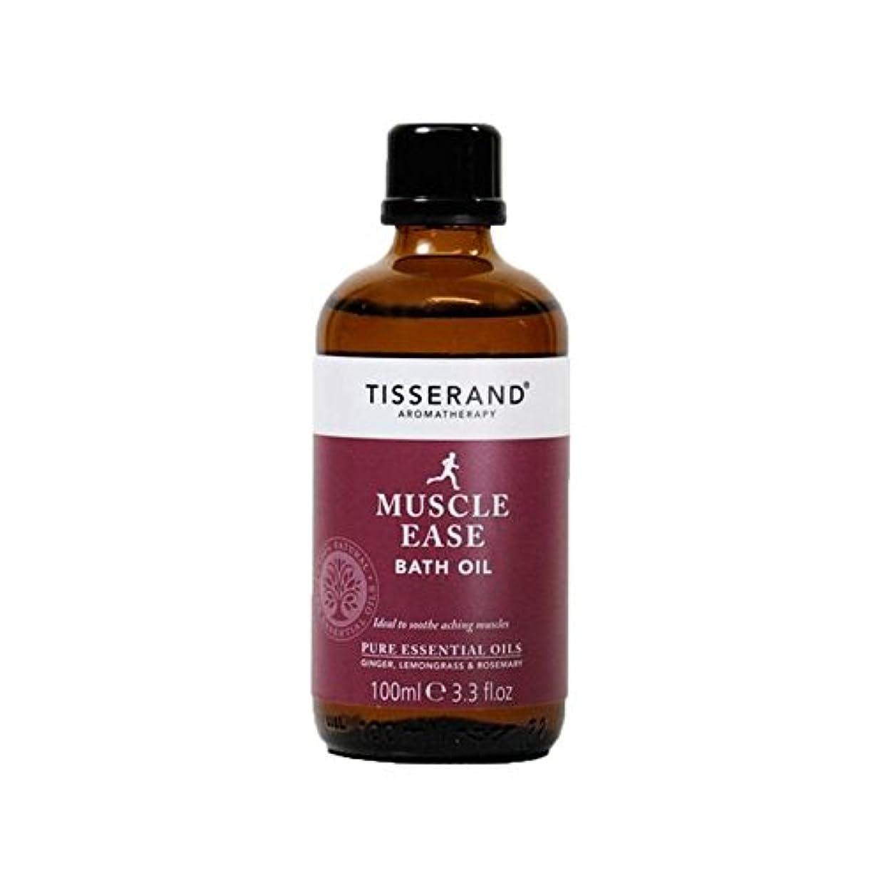 バターレイブリッジティスランド筋肉やすバスオイル100ミリリットル x4 - Tisserand Muscle Ease Bath Oil 100ml (Pack of 4) [並行輸入品]