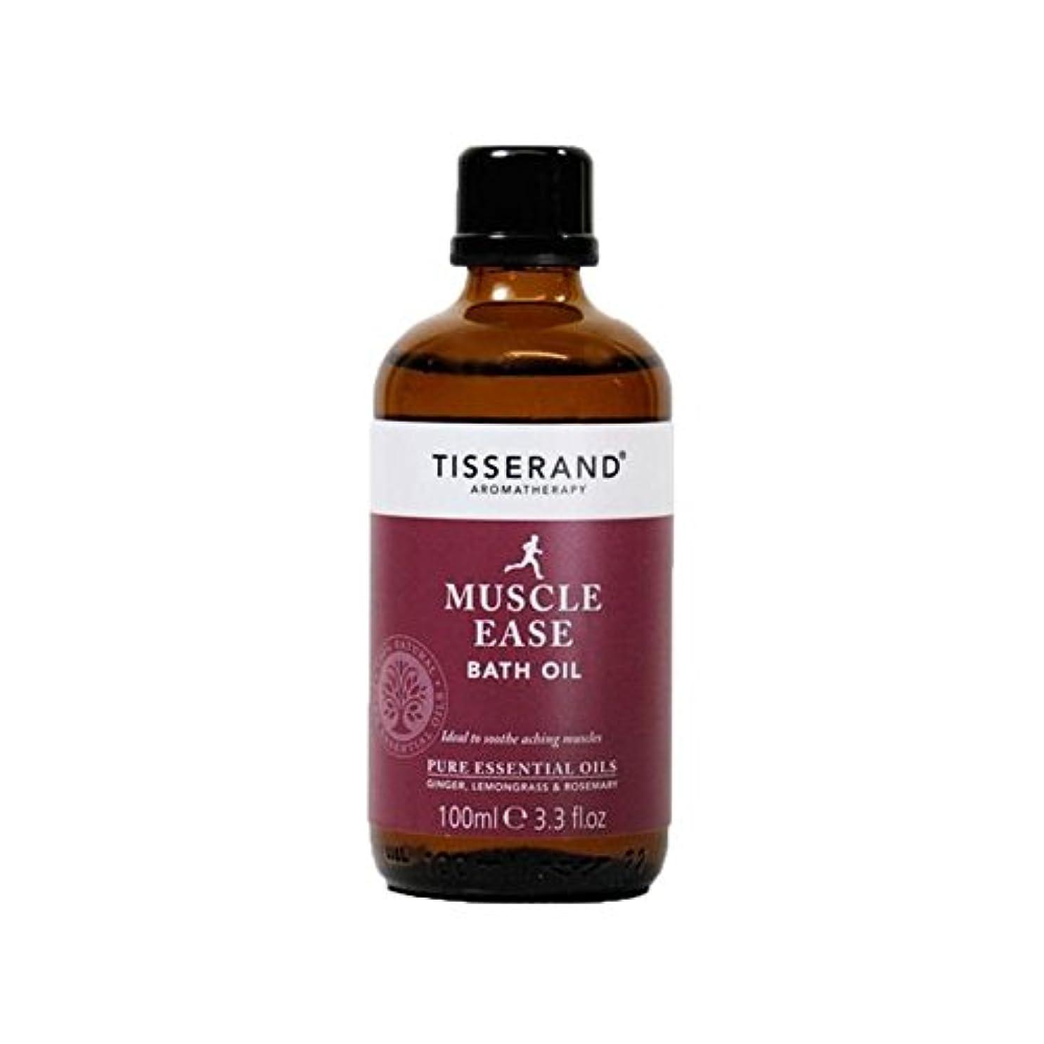 一瞬不明瞭領域ティスランド筋肉やすバスオイル100ミリリットル x4 - Tisserand Muscle Ease Bath Oil 100ml (Pack of 4) [並行輸入品]