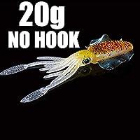 釣りソフトルアー20g / 60g 150mmルミナス/ UVイカジグフィッシングルアータコカラマーフォーシーフィッシングワブラーベイト,11,1pcs