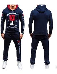 ファッション/スポーツウェア/フィットネス?トレーニング /メンズ/スウェット?パーカー/ 2PCS Mens Sweater Casual Tracksuit Sports Suit Jogging Athletic...