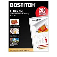 Bostitch Thermal Laminating Pouches 8.5 in x 11 in, 3 mil - 200 pk. [並行輸入品]