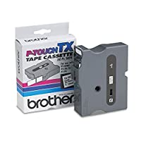 Brother P-Touch TX Tape Cartridge for PT-8000, PT-PC, PT-30/35, 1w, Black on White-- by BND 12502051152 TX2511 by Brother