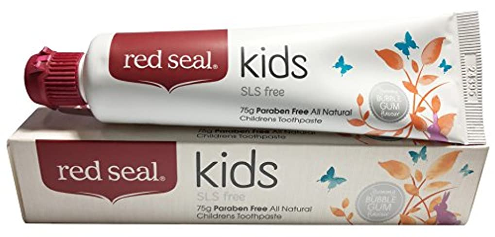 革新脆いロック解除red seal kids 歯磨き粉 75g