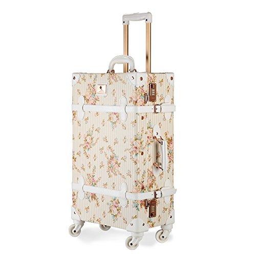 スーツケース キャリーバッグ キャリーバッグ トランクスーツケース レトロ かわいい 耐久性あるキャスターケース スーツケース 国内・国際線機内持込可 (S (機内持込)型, ブルー)
