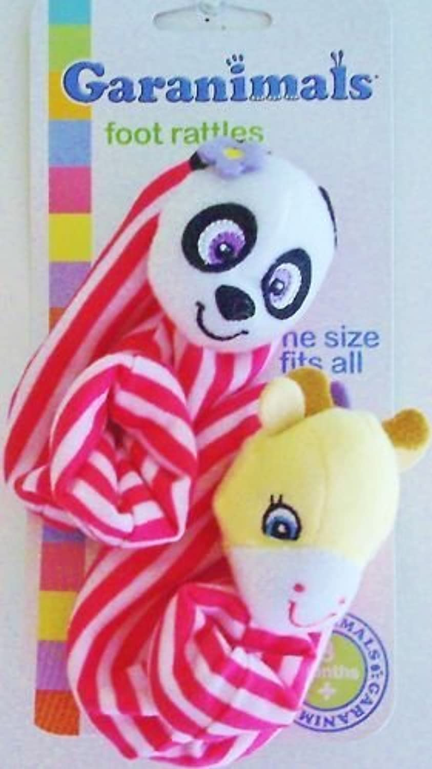 GARANIMALS FOOT RATTLES -ONE SIZE FITS ALL by Sassy