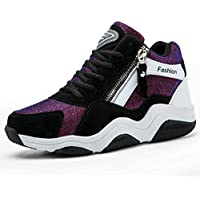 Women's Sneakers Spring Fall Invisible Heightening Ladies Shoes Lace Up Platform Shoes Sports Shoes Low-Top Casual Shoes,A,35