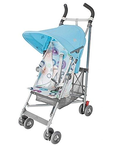 Maclaren  マクラーレン ベビーカー Volo Stroller - Silver Rotary Print Blue [並行輸入品]
