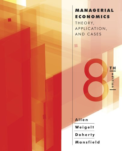 Download Managerial Economics: Theory, Applications, and Cases 0393124495