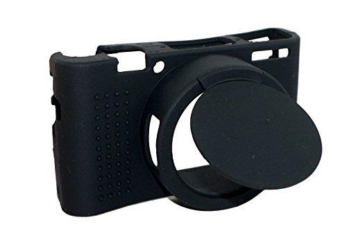 取り外し可能なレンズカバー保護シリコンゲルゴムソフトカメラケ...