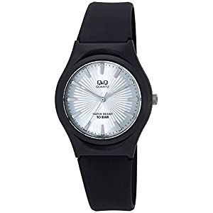 [シチズン キューアンドキュー]CITIZEN Q&Q 腕時計 アナログ 10気圧防水 ウレタンバンド 逆輸入 海外モデル シルバー VQ86J018