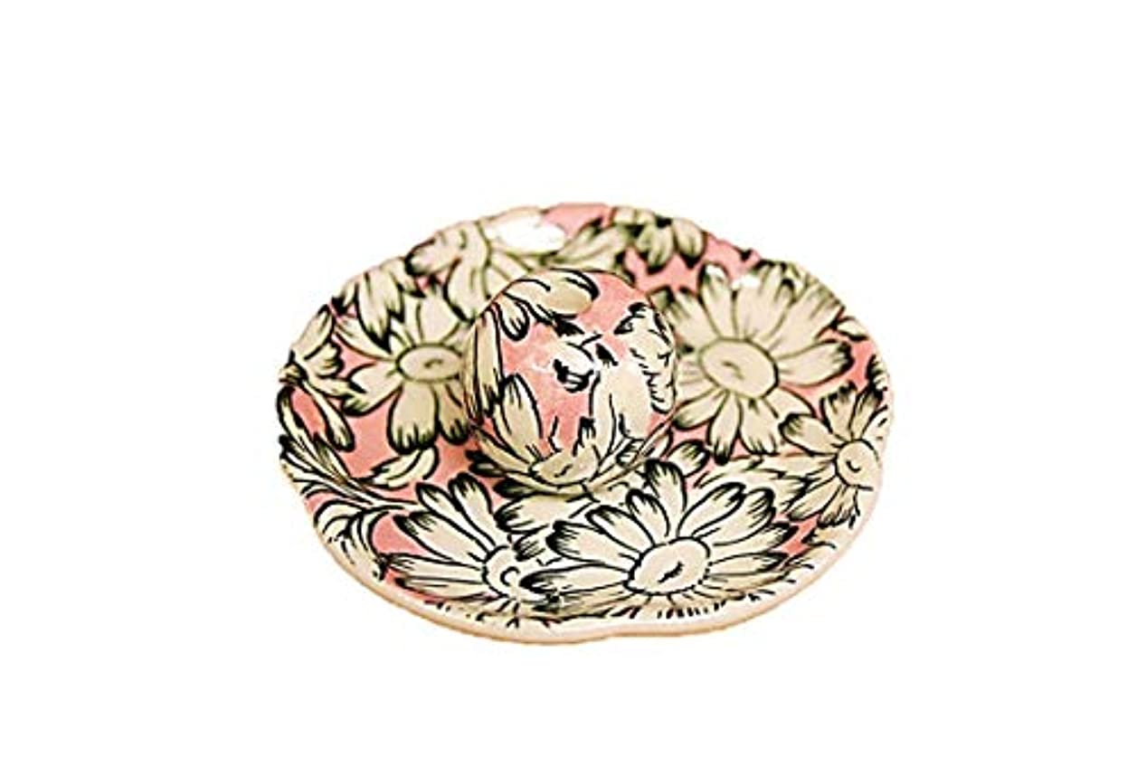 高速道路守る戦いマーガレットピンク 花形香皿 お香立て お香たて 日本製 ACSWEBSHOPオリジナル