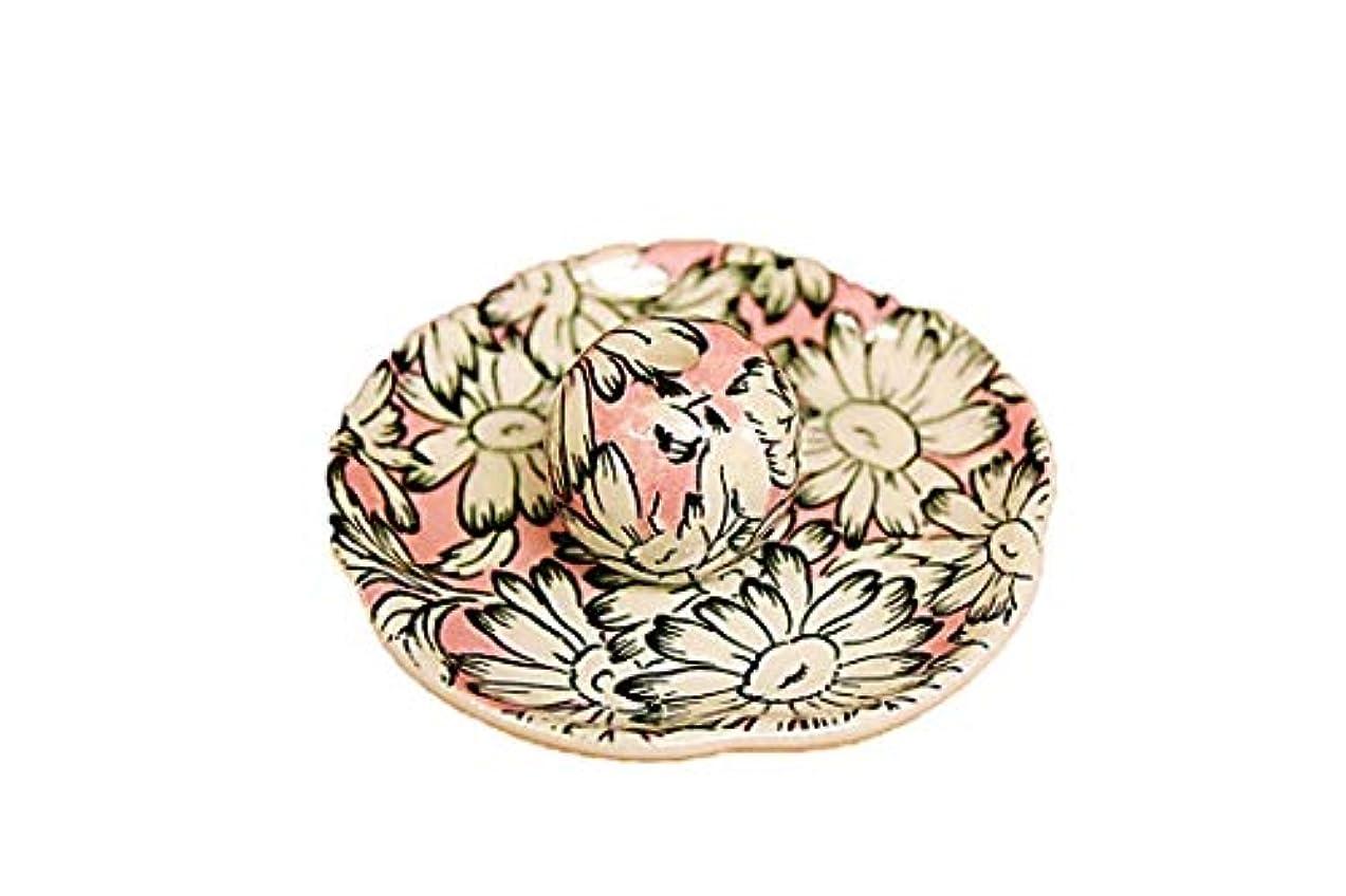 つまずくジャンプ四マーガレットピンク 花形香皿 お香立て お香たて 日本製 ACSWEBSHOPオリジナル