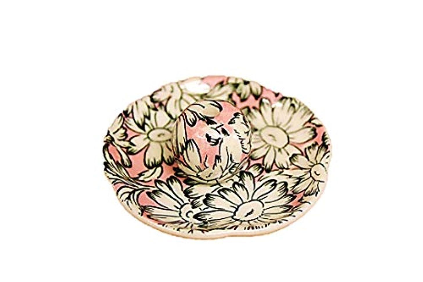 スマイル転用火山のマーガレットピンク 花形香皿 お香立て お香たて 日本製 ACSWEBSHOPオリジナル