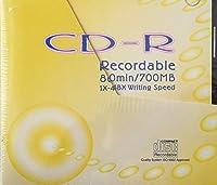 CD-R Recordable 80min / 700MB 1X-48X Writing Speed 10枚入り ケース付