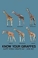 Know your giraffes: Giraffe Notebook College Blank Lined 6 x 9 inch 110 pages -Notebook for Giraffe Lovers Journal for Writing- Notebook for Girls-Gift for Kid Student notebook Present for Women (Giraffe Journal Notebook)