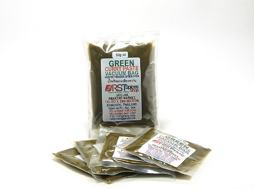 RSTSpices タイ グリーンカレーペースト50g 真空パック4つ入り [Green Curry Paste]