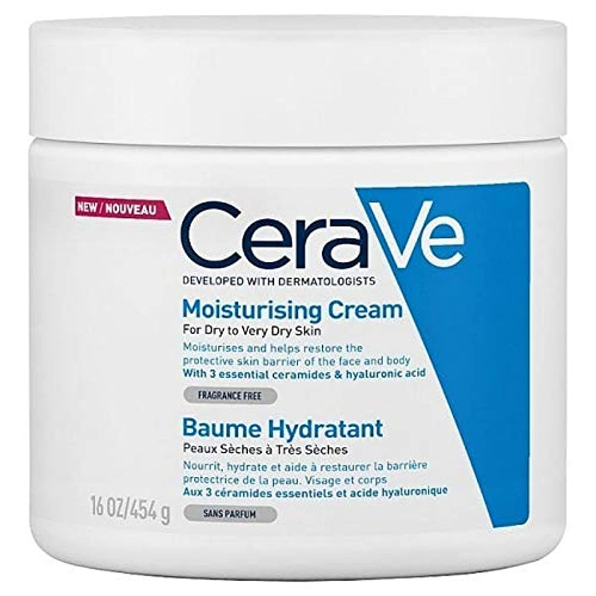 ウェイトレス麻痺ではごきげんよう[CeraVe] Cerave保湿クリーム454グラム - CeraVe Moisturising Cream 454g [並行輸入品]