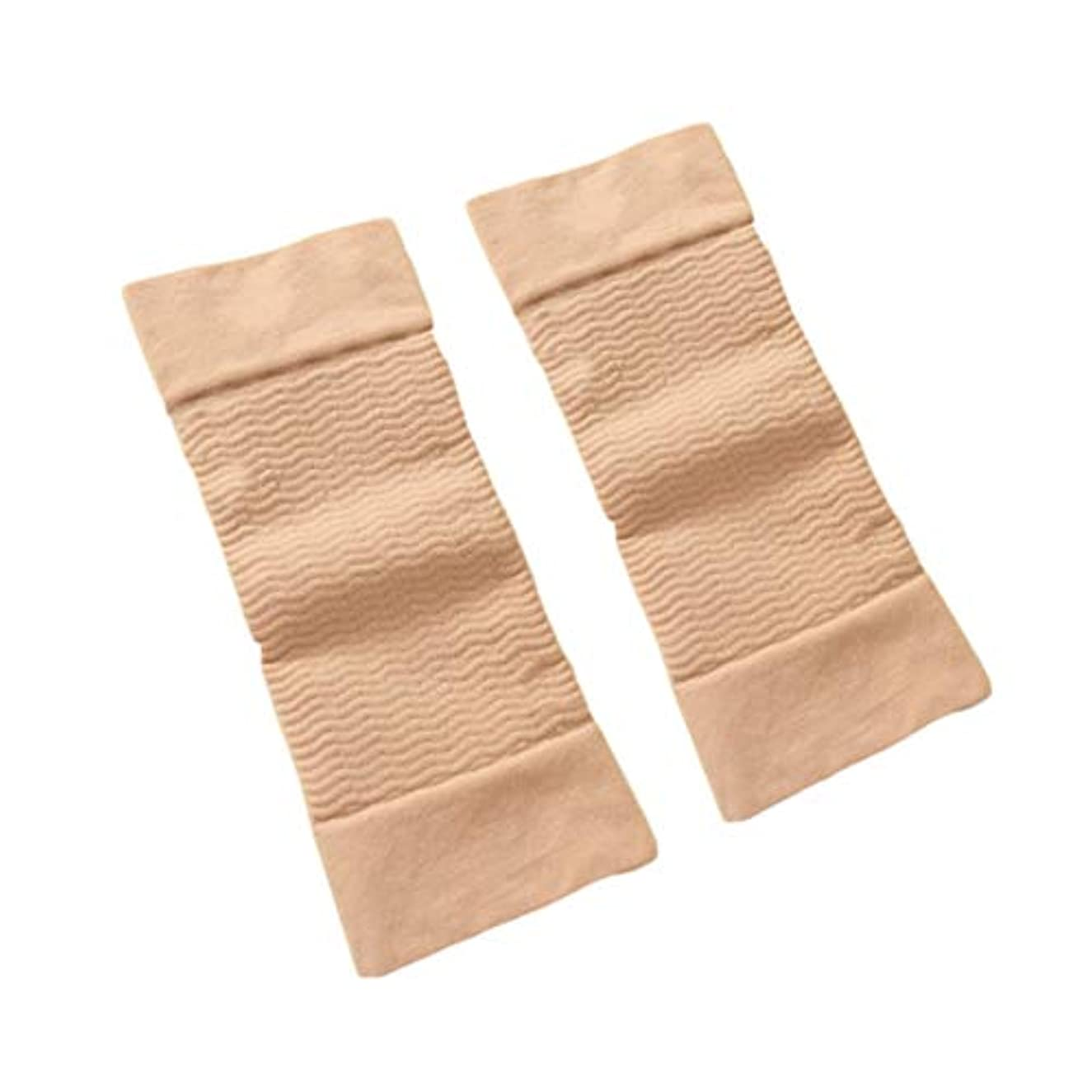 サバント通路保険1ペア420 D圧縮痩身アームスリーブワークアウトトーニングバーンセルライトシェイパー脂肪燃焼袖用女性 - 肌色