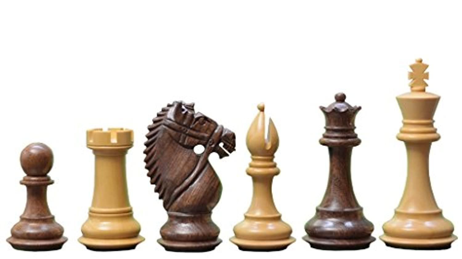 Chessbazaar The Bridle Knight Series Wooden Chess Pieces In Shesham & Box Wood