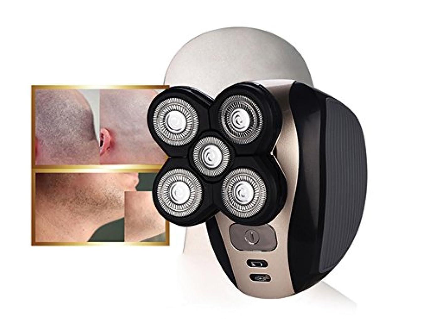 デッキプレゼント行くリコーヘッドまたは男性用シェービングギフトデザイン用に設計された充電式シェーバー5ブレード防水3Dフローティングマシン
