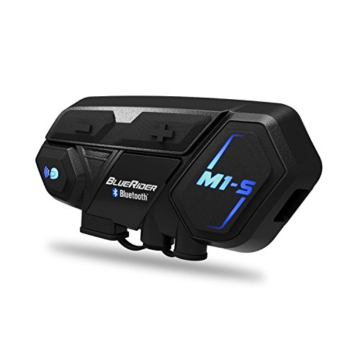 バイク インカム M1-S 最大8人同時通話 Bluetooth4.1 強い互換性 連続使用20時間 日本語音声案内 マルチデバイス接続 インターコム 防水 HI-FI音質 Siri/S-voice ワイヤレス 2種類マイク 日本語オペレーションシステム&説明書 技適認証済み(一台セット)