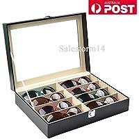 Newv8 Grids Sunglasses Eyeglasses Glasses Display Box Case Storage Organizer AU