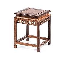 YANFEI YANFEI木製フラワースタンドマホガニーベースソリッドウッドクラフトカービング、リビングルームのバルコニーに適し (サイズ さいず : 8.5*8.5*14cm)