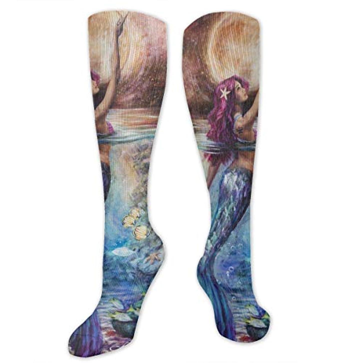夫ルート委任する月光の下でQrriyクリスマス靴下マーメイドは、女性のためのスリッパ