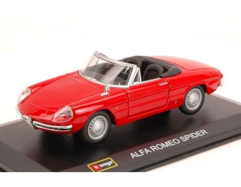 アルファロメオ スパイダー モデルカー ダイキャスト製 ミニカー クラシックカー ALFA ROMEO - 1/32 - DUETTO SPIDER 1600 1966 [並行輸入品]