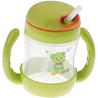 Baosity 全3色 赤ちゃん 瓶 カップ 便利 飲み物ボトル - スタイル1 - グリーン