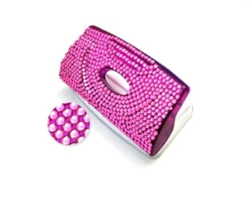 筋肉のつらい不名誉PLATA ( プラタ )【 ピンク 】 2穴 パンチ ラインストーン で 豪華 に デコレーション デコ 文具