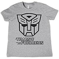 b8844b96d Transformers T Shirt Autobot Outline Logo Official Kids Heather Grey 3-12yrs