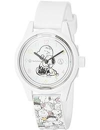 [キューアンドキュー スマイルソーラー]Q&Q SmileSolar 腕時計 スヌーピー 総柄 10気圧防水 ウレタンベルト ホワイト RP01-806
