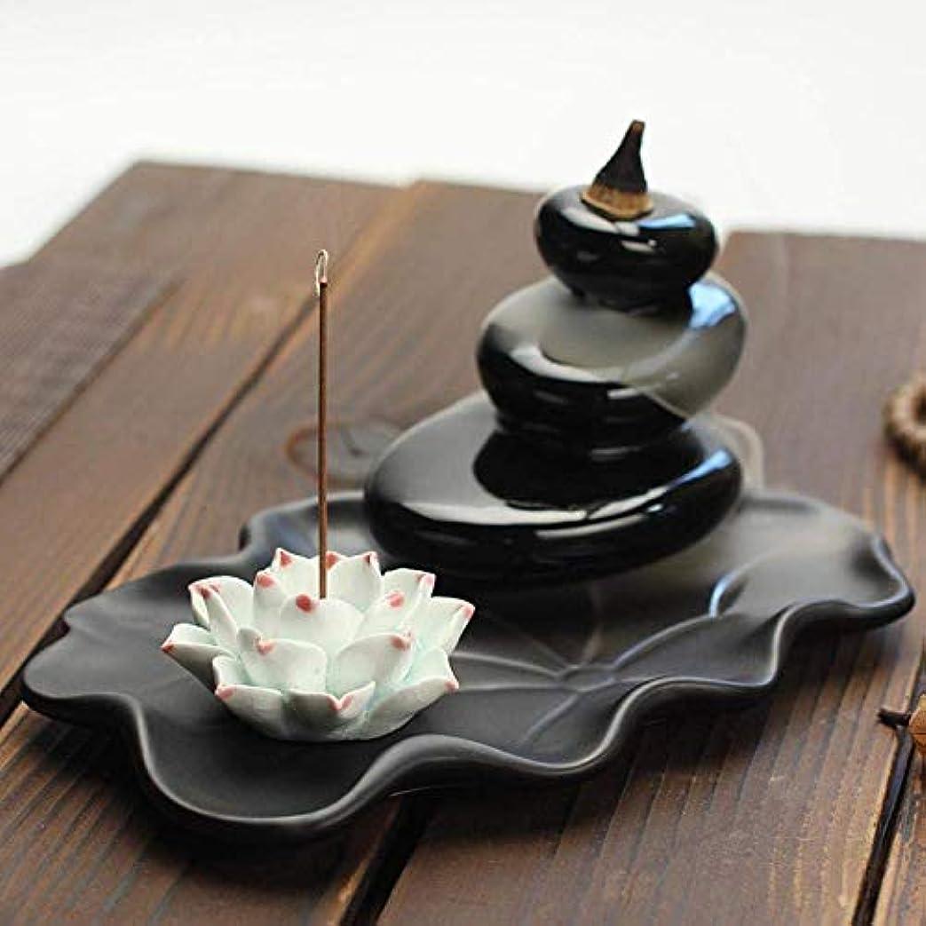 中断議論するリッチデコレーション香炉、逆流香ホルダー香コーン香炉香スティックホルダー家の装飾手芸ギフト